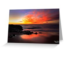 Fire on the Horizon Greeting Card