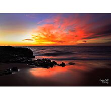 Fire on the Horizon Photographic Print