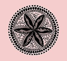 Hearts and Flowers 1 - Tangle see description notes for background colour options by Heatherian