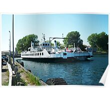Wolf Islander III FERRY BOAT KINGSTON ONTARIO CANADA ..VERSION ONE>>PICTURE,PILLOWS,TOTE BAGS ECT.. Poster