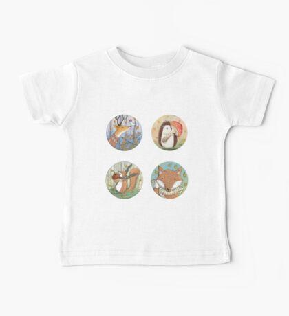 FOX, DEER, HEDGEHOG, SQUIRREL, ANIMAL Baby Tee