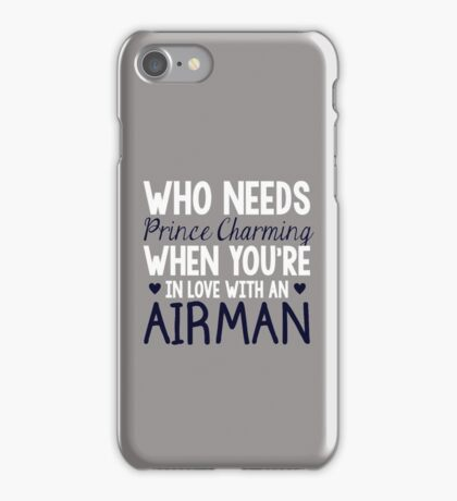 WHO NEEDS PRINCE CHARMING (AIRMAN) iPhone Case/Skin