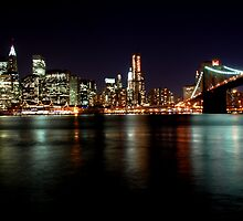 Manhattan at night by jdphotography