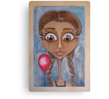 Birthday Girl with Red Balloon Canvas Print