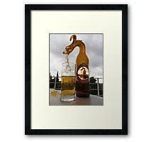 BROKEN GLASS SPILLED DRAGONS BEER PICTURE AND OR CARD Framed Print