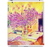 A flower arrangement on living room table. iPad Case/Skin