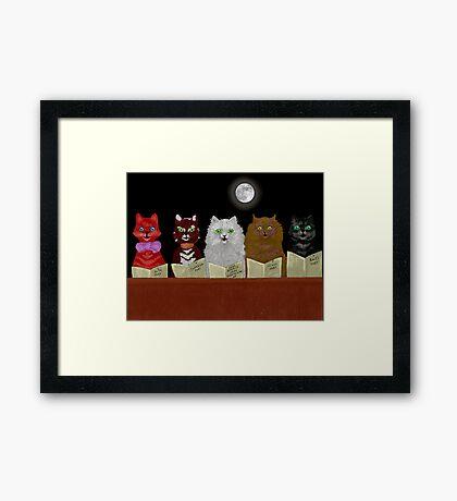 The Cats Chorus.  after Louis Wain. Framed Print