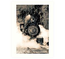 Flagg Coal Steam Engine Blow Out - Duotone Art Print