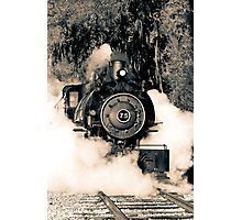 Flagg Coal Steam Engine Blow Out - Duotone Photographic Print