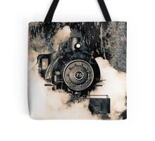 Flagg Coal Steam Engine Blow Out - Duotone Tote Bag