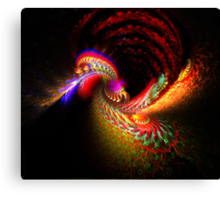 Fire spitting Dragon Canvas Print
