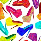 - Colorful shoes pattern - by Losenko  Mila