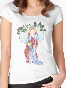 Pear Shaped Fruit Women's Fitted Scoop T-Shirt