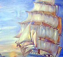 Sails at Sunrise by Iva Penner
