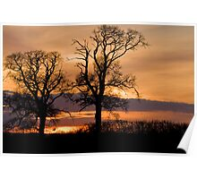 Sunset in rural Bedfordshire Poster