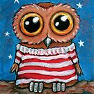 Stars and Stripes Owl by Lisa Marie Robinson