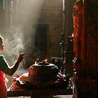 Praying. Madurai by Claude  Renault