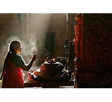 Praying. Madurai Photographic Print