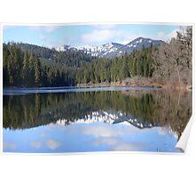 Reflections on Fish lake Poster