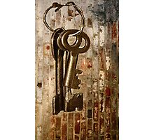 Antique Keys - What They Unlock? Photographic Print