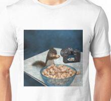 CHIPMUNK ENJOYING HIS PEANUTS,PILLOWS,PICTURE,TOTE BAG ECT.. Unisex T-Shirt