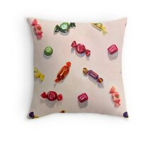 Sweet Candy Painted Pattern Throw Pillow