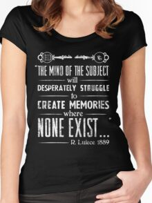 The Infinite Starter Remastered (White) Women's Fitted Scoop T-Shirt