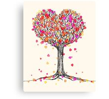 Love in the Fall Canvas Print