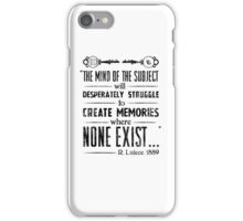 The Infinite Starter Remastered (Black) iPhone Case/Skin