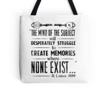 The Infinite Starter Remastered (Black) Tote Bag