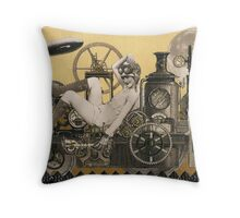 Steampunk Heroine - Arabella Tinkerton Throw Pillow