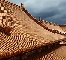 Buddhist Temple Roof Photo by deanworld