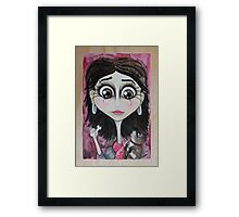 Red Scarf, Brown Eyes Framed Print