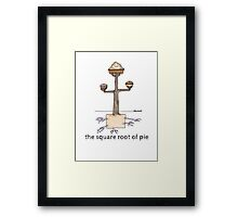 The Square Root of Pie Framed Print