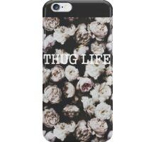 Vintage Floral Pattern Thug Life iPhone Case/Skin