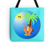 Funny feet 50's retro beach holiday! Tote Bag