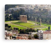 View of The Temple of the Olympian Zeus from the Acropolis Metal Print