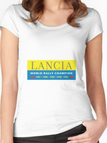 laNCIA world champ 3 Women's Fitted Scoop T-Shirt