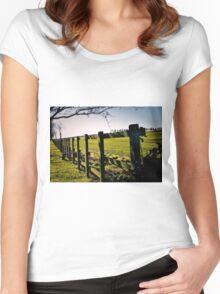 Rural Boundaries... Women's Fitted Scoop T-Shirt
