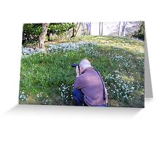 Hodsock Priory snowdrops Greeting Card