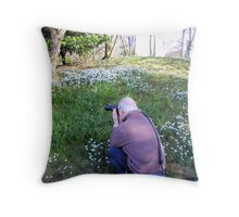 Hodsock Priory snowdrops Throw Pillow