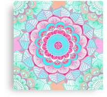Tropical Doodle Flower Canvas Print