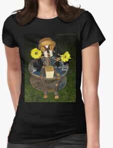 FUNNY HUMEROUS HOME MADE STATUES SERIES TWO PICTURE AND OR CARD Womens Fitted T-Shirt