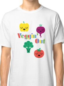 Veggin' Out (colored type) white Classic T-Shirt