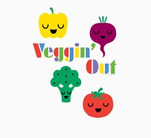 Veggin' Out (colored type) white Unisex T-Shirt