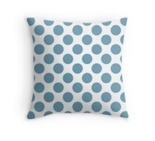 White with Jade Polka Dots Throw Pillow