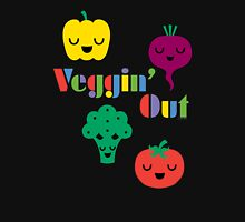 Veggin' Out (colored type) dark Unisex T-Shirt