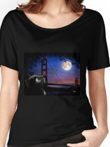 CAT BY THE GOLDEN GATE, by E. Giupponi Women's Relaxed Fit T-Shirt