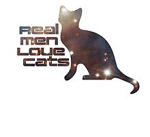 Real Men Love Cats - Cute T-Shirt by deanworld