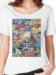Old school graffiti mix N°1 Women's Relaxed Fit T-Shirt